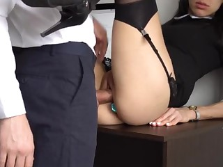 Ass Fucking Internal Ejaculation For Gorgeous Super-Bitch Assistant, Chief Smashed Will not hear of Cock-Squeezing Cooter And Culo!