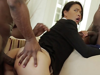 Hot Asian Milf in BBC Threesome