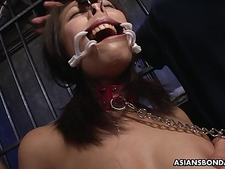 Succulent brunette, Yayoi Yanagida is deepthroating balls deep and bleat